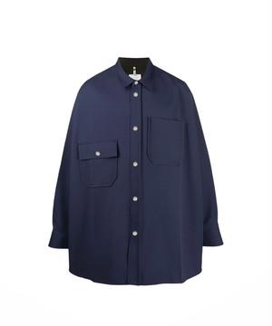 OAMC MAX SHIRT, POLY Factory Blue   OAMQ601525