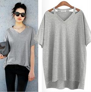ユニーク【3色】V-ネックTシャツ181j