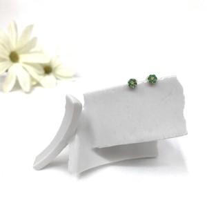 K18 エメラルド&ダイヤモンドピアス 小花