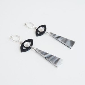 SHI★SEN earrings -marble-