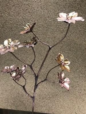 板金職人の作った花(桜)銅