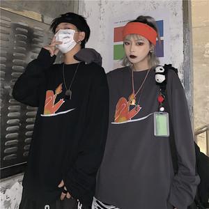 【トップス】韓国系カートゥーンプリントラウンドネック長袖Tシャツ25644868
