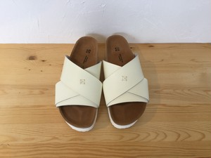 "MAISON EUREKA "" CROSS OVER SANDAL  WHITE """