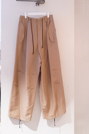 pelleq / front string big trousers (moca)