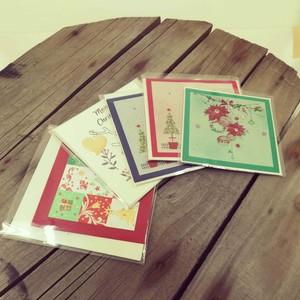 クリスマスカード カードサイズ アソート3枚セット