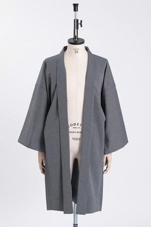 羽織 / シルクウール / 万筋 / Blue(With tailoring)