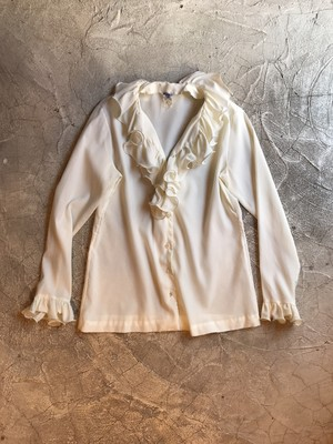 80's Ladies Frill blouse