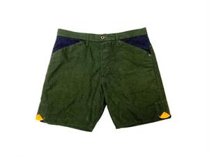 20SS コットン100%フランネルショートパンツ / Cotton 100% flannel short pants / Green