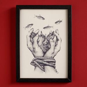 Art print  Freedom 自由  by Masa
