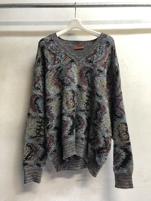 Missoni / geometric pattern cotton knit