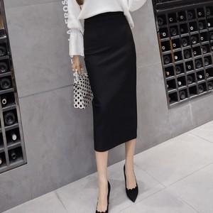 【ボトムス】ファッションスリムワンピース切り替えスカート17654132