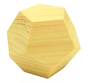 wood dodecahedron