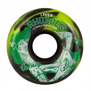 OJ Wheels / 56mm / 87a / Lannie Rhoades Keyframe /GREEN BLACK
