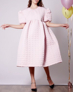 【Sister Jane】Prep Heart Quilted Midi Dress
