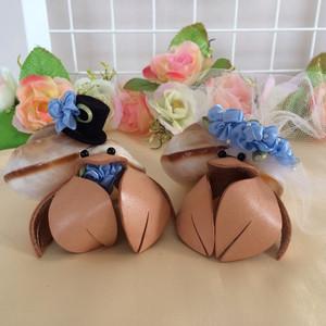 海や夏の結婚式にやどかりウェディングドール!ブルー