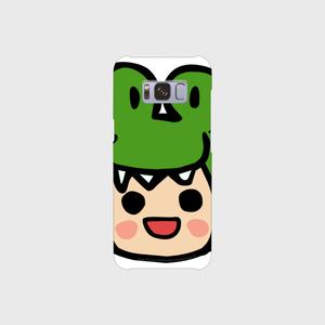 笑うアリー スマホケース (Android v1 白 表面のみ印刷)