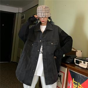 【アウター】ストリートレトロ切り替え配色シングルブレストジャケット27313231