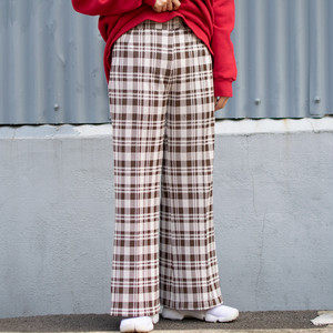 70's Plaid Flare Pants