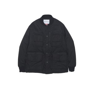 PRIMALOFT X WINDSTOPPER RIBBED COLLAR COVERALL JACKET -BLACK