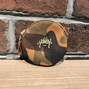 Round coin case Italy Camo Brown