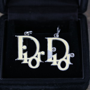 .Christian Dior LOGO DESIGN SWING EARRING/クリスチャンディオールロゴデザインぶらさがりピアス 2000000041582