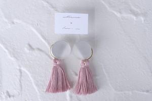 round tassel * grey pink