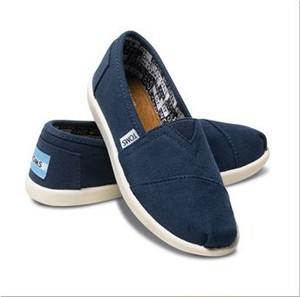 TOMS | Navy Canvas Youth Classics