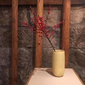 額賀章夫 / 錆粉引 花器