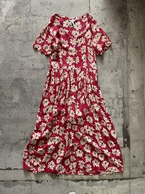 Euro vintage floral dress -pink-