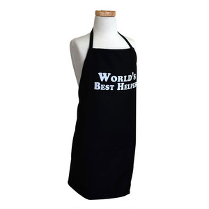 Flirty Aprons 子供エプロン World Best Helper Black