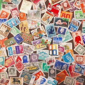 Vintage collage Stamps assorted set (20枚入り)