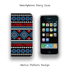 Smartphone Diary Case / Native Pattern Design 001