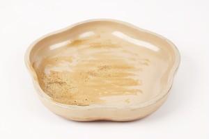 白漆刷毛目粉蒔梅型小鉢(五寸)1