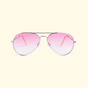 "Shady Spex ""TV Eye"" sunglasses, Silver w/Rose Gradient lenses"