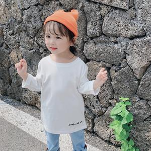 【トップス】アルファベットコットン女の子清新シンプル長袖Tシャツ26944294