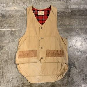 70's hunting vest ハンティングベスト ベージュ