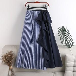 フリルストライププリーツスカート