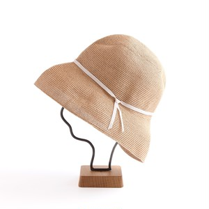 mature ha./paper braid light hat wide/mixbrown×light grey