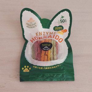 【20%OFF】【数量限定】北海道産 ゆめぴりかライススティック(野菜)(植物発酵酵素+たもぎ茸配合) 無添加・無着色 「犬用」