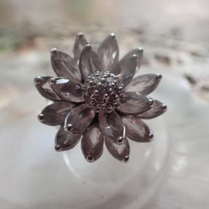 ローズクォーツ蓮の花 リング