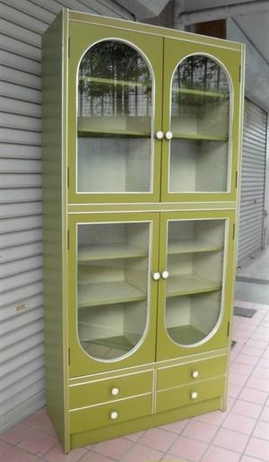 レトロなキャビネット【グリーン】(1018104YE)