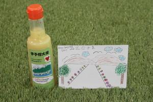 ポストカード(原画)と伊予柑大使ドレッシング(キッズアートオリジナルデザイン)8