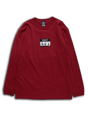 LOGO PATCH L/STEE burgundy