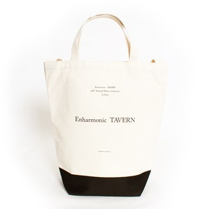 Paris Canvas Tote -White×Black