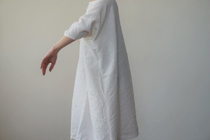 リネンロングトップス(ホワイト)