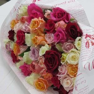 わけあり品 バラの花束Mix30本