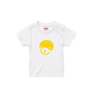 イエローマッシュキッズTシャツ(モコモコプリント)