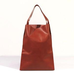 軽くて薄い牛革のバッグ L BAG RD(赤)