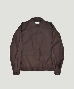 LEMAIRE Over Sized Blouson Brown M-193-OW143