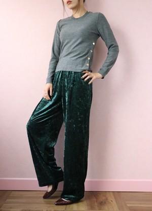 green velour easy pants